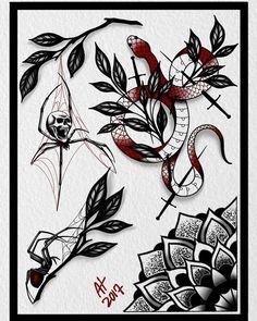 All done with this one . These are all available as tattoos . #skulltattoo #mandalatattoo #mandalatattoodesign #snaketattoo #spidertattoo#tattooaddict #tattooartist #tattoolover #tattoolife #tattoolove #tattoo_art #tattooartwork #tattoodesign #tattooflash  #ladyheadtattoo #procreateart #ipadproart #moderntimestattoo #spotswoodnj #njtattoo #newjerseytattoo #njtattooartist #rutgerstattoo