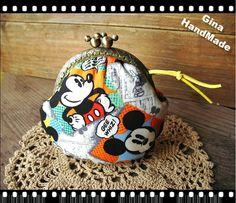 Mickey Mouse Metal frame purse/coin purse