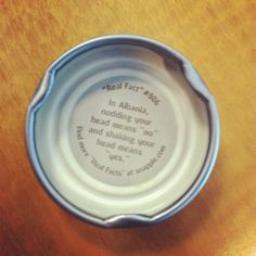 In Albania nodding your head means 'no' and shaking your head means 'yes' - Snapple bottle cap Fact Real facts Wow Facts, Real Facts, Wtf Fun Facts, Random Facts, Strange Facts, Creepy Facts, Did You Know Facts, Things To Know, Snapple Facts