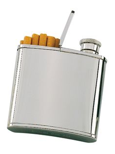 2.5oz. Flask/Cigarette Holder from WILOUBY
