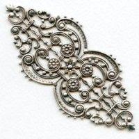 stampings plated silver (5) - VintageJewelrySupplies.com