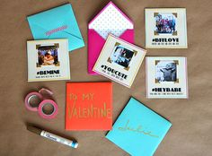 How to Make Instagram-Inspired Love Notes! These free Valentine's Day Printables make it so easy to create cards with your favorite photos and clever messages.