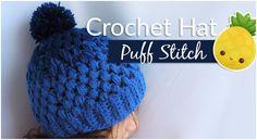 Crochet Gradient Beanie Hat Puff Stitch