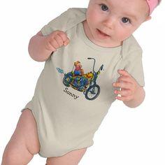 Little Motorcycle Biker - Baby Creeper Original artwork by Ans Collijn©
