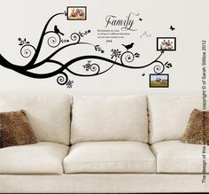 Family Tree, Bird Vinyl Wall Art