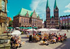 Town Hall and Roland on the Marketplace of Bremen - Bremen, Bremen, Germany