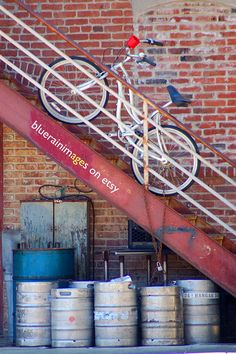 Higher Ground, Urban Photography, Street Art, City Photography, Abandoned, Urban Art by bluerainimages on Etsy