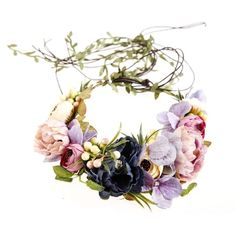 Amazon.com: Ever Fairy Berries Flower Crown with Adjustable Vines... ($14) ❤ liked on Polyvore featuring accessories