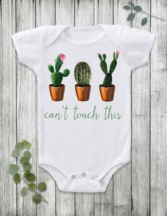Cacti baby onesie by Fawn and Flora