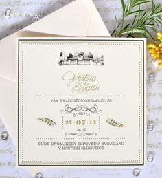 Tuscany printed wedding invitation