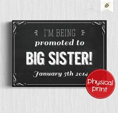 Promoted chalkboard style A4 sign or pregnancy by PaperBeeDesigns, $10.00