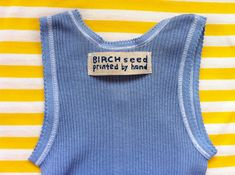 B I R C H s e e d -- printed by hand: tutorial - how to make home made cloth labels for clothes and products How To Make Labels, Clothing Labels, Homemade, Sewing, Printed, My Style, Dyi, Clothes, Tops
