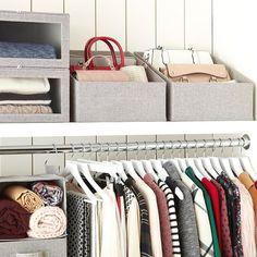 closet storage Grey purse storage bin Silk's The Thing Article Body: Soft, light a Organizing Purses In Closet, Purse Organization, Organize Purses, Purse Organizer Closet, Konmari, Closet Bedroom, Bedroom Storage, Home Design, Design Design