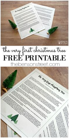 Do you love Christmas stories? I do and this is a printable of the story, The Very First Christmas Tree featured on thebensonstreet.com #christmasstories #freeprintables #theveryfirstchristmastree #christmasstory #christmasprintables #freeprintables #christmasprintablestory