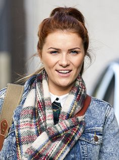 chelsea halfpenny Bbc Casualty, Ella Henderson, Hollyoaks, Plaid Scarf, Chelsea, Tv Shows, Sisters, Soap, In This Moment