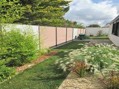 permanent patio fence using wood plastic