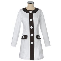 Nine West White Chocolate Mod Coat