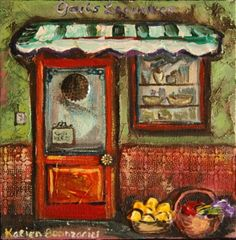 green grocer Store Fronts, My Favorite Things, Green, Painting, Art, Art Background, Painting Art, Kunst, Paintings