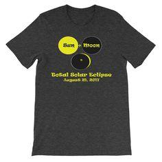 Sun + Moon, Adult Unisex short sleeve t-shirt