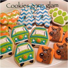 Scooby Doo Birthday cookies Evas Cookies Pinterest Birthday