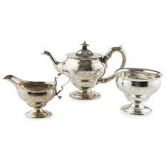 Tea Service, Glasgow, Auction, Silver, Money