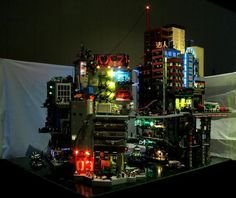 Cyberpunk City in Lego