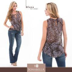 Anímate a incorporar el animal print a tus looks.  Precio blusa: http://bonabella.com.co/producto/blusa-25260/