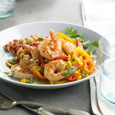 Shrimp with Peppers & Corn From Better Homes and Gardens, ideas and improvement projects for your home and garden plus recipes and entertaining ideas.