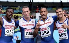 2014 4x100m relay team: Henry Aikines-Aryeetey, Richard Kilty, James Ellington and Adam Gemili