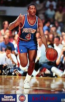 JOE DUMARS Detroit Pistons Basketball 1990 Sports Illustrated Series Poster - Sold for $19.99 May 2013