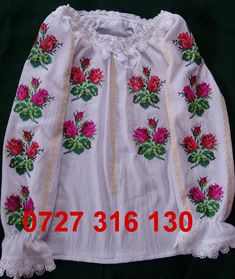 Cross Stitch Embroidery, Needlepoint, Floral Tops, Costume, Boutique, Summer Dresses, Ale, Daisy, Women