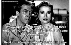 Rear Window - James Steward and Grace Kelly Hollywood Scenes, Classic Hollywood, Old Hollywood, Old Movies, Vintage Movies, Tv Quotes, Old Movie Quotes, Celebrity Photography, Movie Lines