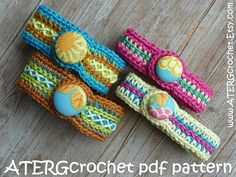 Crochet Rings, Crochet Beaded Bracelets, Beaded Bracelet Patterns, Jewelry Patterns, Beaded Jewelry, Granny Square Crochet Pattern, Crochet Patterns, Pandora Leather Bracelet, Pandora Bracelets