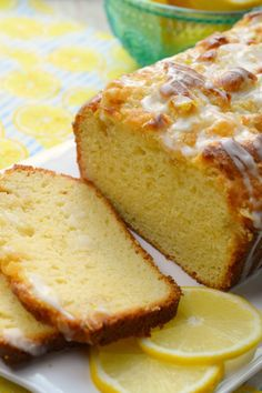 Lemon Crumb Loaf has a fresh lemon flavor, crumb topping and finished off with a glaze. So delicious, a wonderfully baked loaf great for dessert or breakfast! Bread Machine Recipes, Bread Recipes, Cooking Recipes, No Bake Desserts, Just Desserts, Dessert Recipes, Dessert Ideas, Lemon Loaf, Tea Cakes
