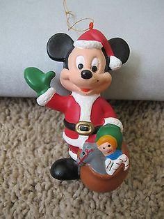 Santa Mickey Mouse Christmas Ornament Plastic   eBay