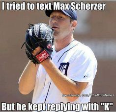 Strikeouts are fine on the field, not on text messages. (MLB Memes)