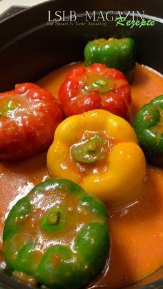 Kochen Schritt für Schritt. Gefüllte Paprika mit vielen Tipps und Tricks für gutes Gelingen. Eat Smart, Tricks, Stuffed Peppers, Vegetables, Food, Europe, Mexican Dishes, Unstuffed Peppers, Good Food