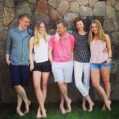 Baryshnikov family. Peter Andrew Baryshnikov , Anna Katerina Baryshnikov, Mikhail Baryshnikov, Lisa Rinehart,  Sofia-Luisa Baryshnikov