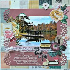 My heart is full - My Creative Scrapbook's main kit for November 2014 Crate Paper Maggie Holmes Open Book collection