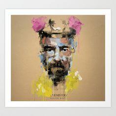 Breaking bad WALT Art Print by Gary Reddin - $16.00