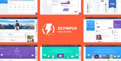 Olympus Social Network Web PSD Template