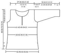 """DROPS tunic in moss stitch in """"Cotton Viscose"""" and Drops """"Alpaca"""" ~ DROPS Design"""