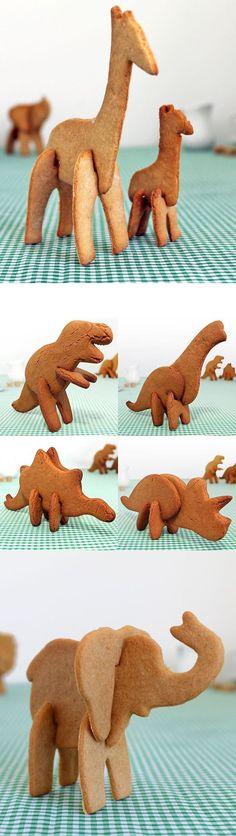 so cute! :: 3D Dino Cookie Cutters