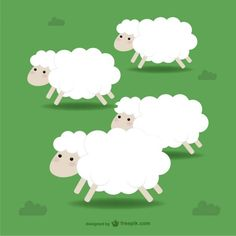 Sheep Illustration Free Vector
