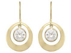 Bella Luce (R) 2.88ctw Round 14k Yellow Gold Dangle Earrings