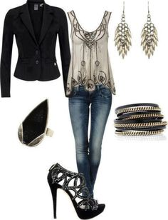 Love this perfect, edgy look!
