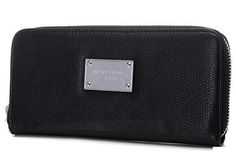 New Michael Kors Wallet Black Silver Hardware