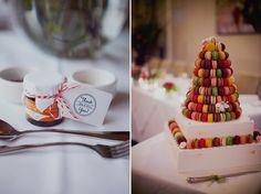 Macaroon Wedding cake #wedding #cake