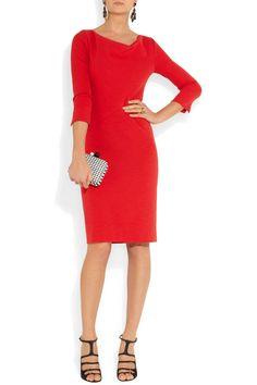 Oscar de la Renta|Stretch-wool blend dress|NET-A-PORTER.COM