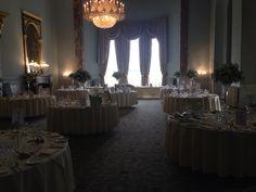 Ballroom, Wynyard Hall - set up for wedding breakfast